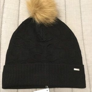 COACH Embossed Signature Knit Hat.